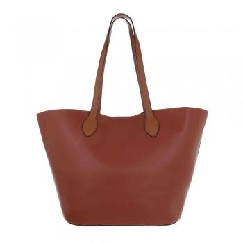Shopper bag в кафяво