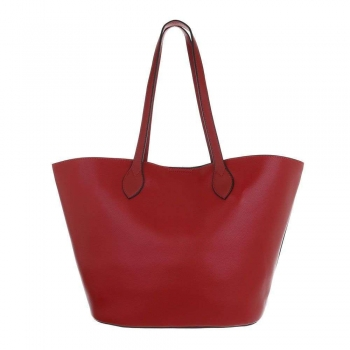 Shopper bag в наситено червен цвят