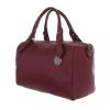 Релефна дамска чанта във винен цвят