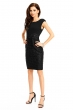 Изискана официална черна рокля WJ