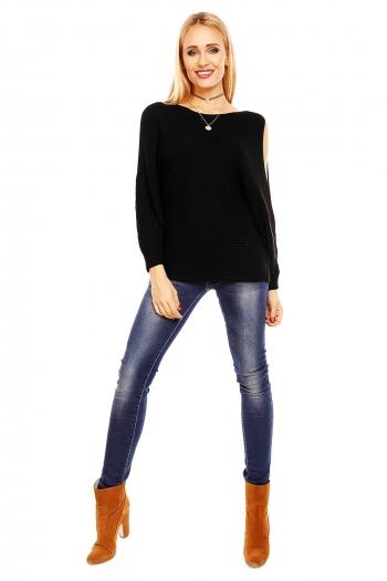 Ежедневен пуловер Bisous Project в черен цвят