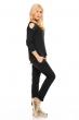 Блуза с нежна декорация Bonito в черен цвят