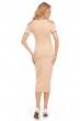 Спортна ежедневна рокля Elli White в цвят априкот