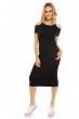 Спортна ежедневна рокля Elli White в черен цвят