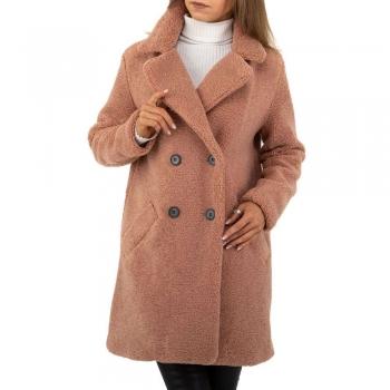 Топло палто Noemi Kent в тъмно розов цвят