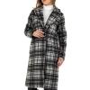 Карирано палто Voyelles в сиво и черно