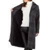 Карирано палто Voyelles в сиво