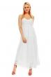 Дълга романтична рокля в бяло Lilie Rose