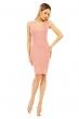 Еластична рокля с интересен гръб Miss A.B.C в нежно розово