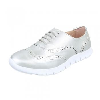 Спортно-елегантни ежедневни дамски обувки в сребристо