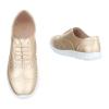 Спортно-елегантни ежедневни дамски обувки в златисто