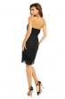 Плисирана рокля без презрамки Mayaadi в черен цвят