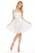Официална дантелена рокля Mayaadi в снежно бял цвят