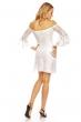 Дантелена рокля с разкроени ръкави Mayaadi в бяло