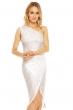 Асиметрична дантелена рокля Mayaadi в снежно бял цвят