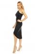 Асиметрична дантелена рокля Mayaadi в черен цвят