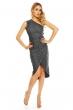 Асиметрична дантелена рокля Mayaadi в цвят антрацит