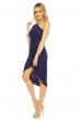 Асиметрична дантелена рокля Mayaadi в кралско синьо