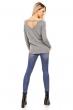 Пуловер със свободна кройка Nicole в сив цвят