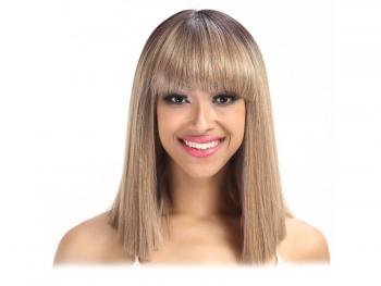 Права дамска перука с бретон - 34 см - руса - TT6-23