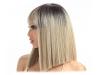 Права дамска перука с бретон - 34 см - руса - TTPR4-16A-613F