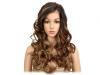 Дамска синтетична перука на едри вълни 55 см - в цвят трюфел