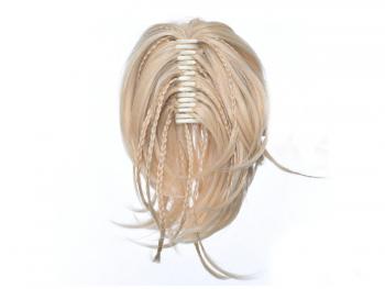 Опашка от синтетичен косъм с плитки и шнола 30см #1003