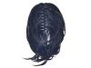 Опашка от синтетичен косъм с плитки и шнола 30см #1B