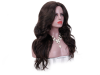 Дамска синтетична перука на едри вълни 60 см - в кафяво