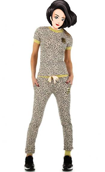 Спортен дамски екип в леопардово Emma&Ashley