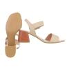 Дамски сандали в нежен бежов цвят с катарама