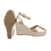 Ежедневни летни дамски обувки -  розово злато