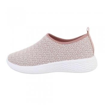 Ежедневни спортни дамски обувки в бяло и розово