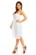 Официална бяла рокля без ръкави Mayaadi