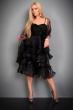 Официална рокля на воали в черно