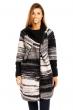 Дамско палто в черно и бяло