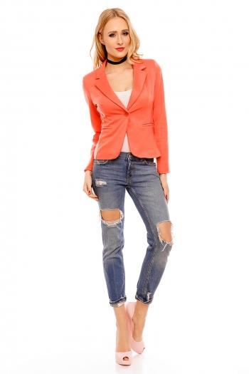 Дамско сако в наситен сияйно оранжев цвят Miss One